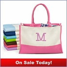 Bridesmaids Monogram Canvas Tote Bag