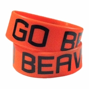 Oregon State Beavers Go Beavs Rubber Wristband - Orange
