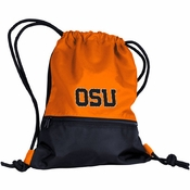 Oregon State Beavers Logo Cinch String Backpack - Orange/Black