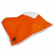 Oregon State Beavers Logo Sherpa Throw - Orange