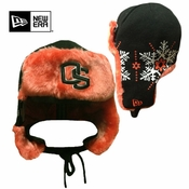 Oregon State Beavers New Era Snow Flake Trapper Hat - Black