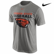 Oregon State Beavers Nike Baseball Team Issue Legend Tee - Grey