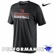 Oregon State Beavers Nike Dri-FIT 2013-2014 Team Issue Basketball Tee - Black