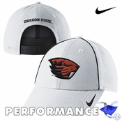 Oregon State Beavers Nike Dri-FIT Coaches Legacy 91 Adjustable Cap - White