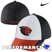 Oregon State Beavers Nike Dri-FIT Conference Legacy 91 Swoosh Flex Cap - White