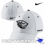 Oregon State Beavers Nike Dri-FIT Fan Legacy 91 Swoosh Flex Cap - White