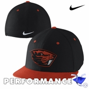 Oregon State Beavers Nike Dri-FIT Players True Swoosh Flex Cap - Black