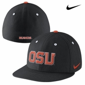 Oregon State Beavers Nike Dri-FIT True Authentic Fitted Hat - Black