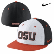 Oregon State Beavers Nike Dri-FIT True Authentic Fitted Hat - White