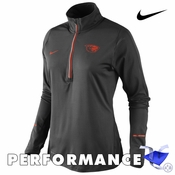 Oregon State Beavers Nike Dri-FIT Women's Tonal Element 1/2 Zip Long Sleeve Top - Black