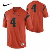 Oregon State Beavers Nike Football #4 Road Game Jersey - Orange