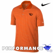 Oregon State Beavers Nike Golf Dri-FIT Victory Stripe Polo - Orange/White