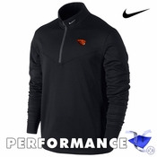 Oregon State Beavers Nike Golf Therma-FIT Men's Thermal 1/2 Zip Pullover - Black