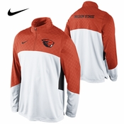 Oregon State Beavers Nike Long Sleeve Basketball Shoot Around Shirt - White/Orange