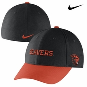 Oregon State Beavers Nike Mascot Name Swoosh Flex Hat - Black