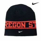 Oregon State Beavers Nike Player Sideline Knit Beanie - Black