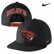 Oregon State Beavers Nike Players True Snapback Cap - Black