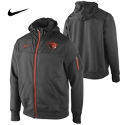 Oregon State Beavers Nike Stealth Full Zip Jacket - Charcoal