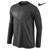 Oregon State Beavers Nike Stealth Long Sleeve Triblend Tee - Charcoal