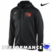 Oregon State Beavers Nike Therma-FIT KO Full Zip Performance Hoody - Black