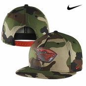 Oregon State Beavers Nike True Camo Snapback Cap - Camo/Orange