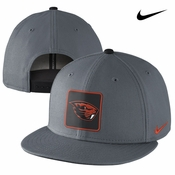 Oregon State Beavers Nike True Fan Flat Brim Snap Back Cap - Grey
