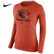 Oregon State Beavers Nike Women's Long Sleeve Cotton Team Tee - Orange