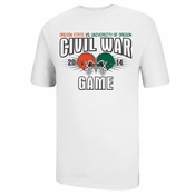Oregon State Beavers Ouray 118th Civil War Dueling Helmets Tee - White