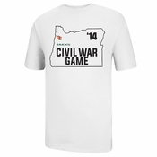 Oregon State Beavers Ouray 118th Civil War State Outline Tee - White