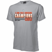 Oregon State Beavers Ouray 2014 Three Time PAC12 Wrestling Champs Tee - Grey