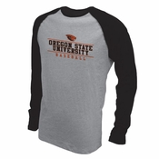 Oregon State Beavers Ouray Baseball Raglan Long Sleeve Tee - Black