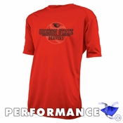 Oregon State Beavers Ouray Baseball Short Sleeve Performance Tee - Orange