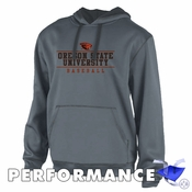 Oregon State Beavers Ouray Beaver Logo Baseball Performance Hoody - Dark Grey