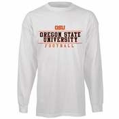 Oregon State Beavers Ouray Football Long Sleeve Tee - White