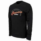 Oregon State Beavers Ouray Football Long Sleeve Thermal - Black