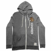 Oregon State Beavers Retro Brand Vintage Benny Full Zip Hoody - Grey