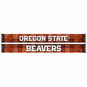 Oregon State Beavers Ruffneck Plaid Scarf - Orange