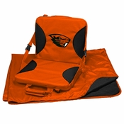 Oregon State Beavers Stadium Blanket and Seat Set - Orange
