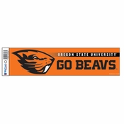 Oregon State Beavers WinCraft 3x12 Beaver Bumper Sticker - Orange
