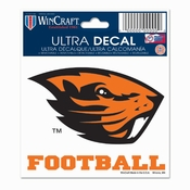 Oregon State Beavers WinCraft 3x4 Football Ultra Decal