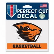 Oregon State Beavers WinCraft 4x6 Basketball Perfect Cut Decal
