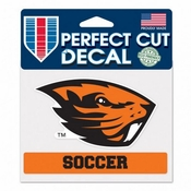 Oregon State Beavers WinCraft 4x6 Soccer Perfect Cut Decal