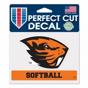 Oregon State Beavers WinCraft 4x6 Softball Perfect Cut Decal