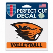 Oregon State Beavers WinCraft 4x6 Volleyball Perfect Cut Decal