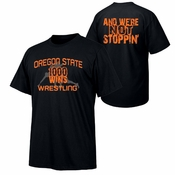 Oregon State Beavers Wrestling 1K Wins Tee - Black
