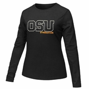 Oregon State Beavers Ouray Women's OSU Gymnastics Long Sleeve Tee - Black
