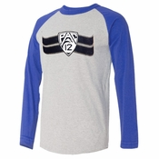 PAC-12 Men's Long Sleeve Blended Tee - Grey/Blue