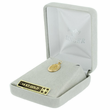 14K Gold Bar Pin with Miraculous Medal