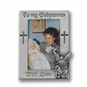 Fine Pewter Godparents Photo Frame