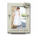 Fine Pewter Confirmation Frame for Wallet Size Photo
